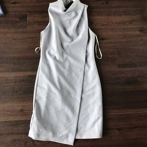 Sale halston heritage grey draped front dress